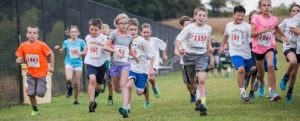 Students running in jog-a-thon