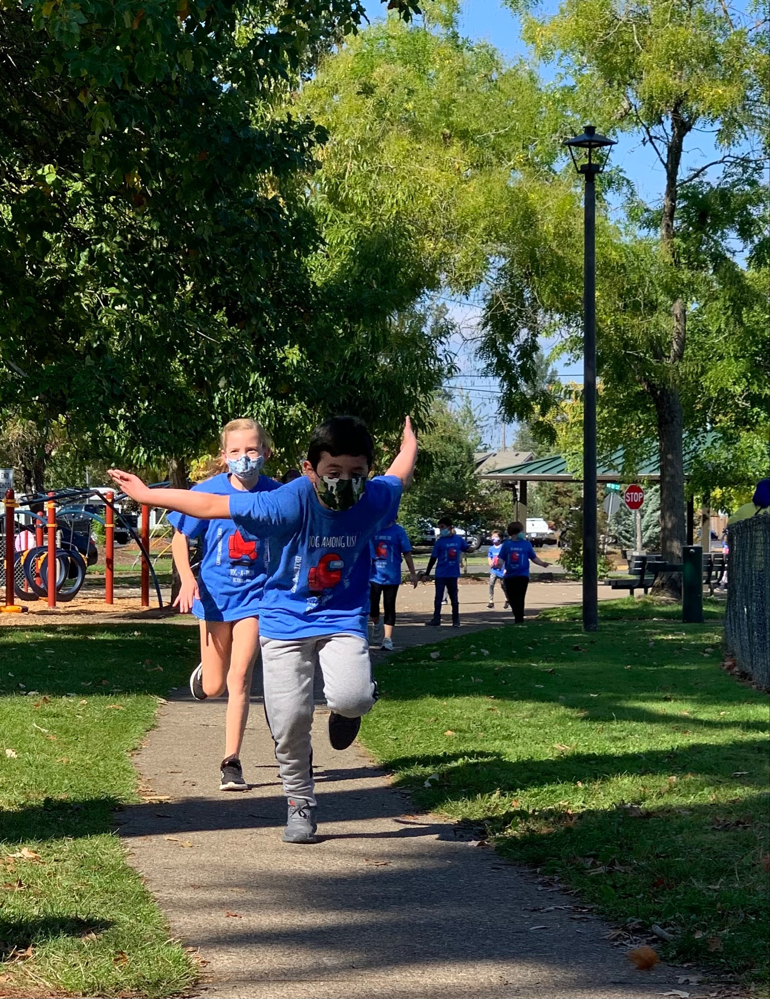STUDENT PARTICPATING IN JOG-A-THON